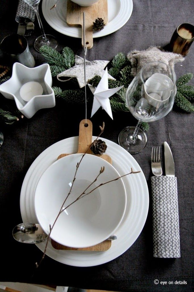 Pin By Ping Hu On Dining Table Decorations Pinterest Christmas Settings And