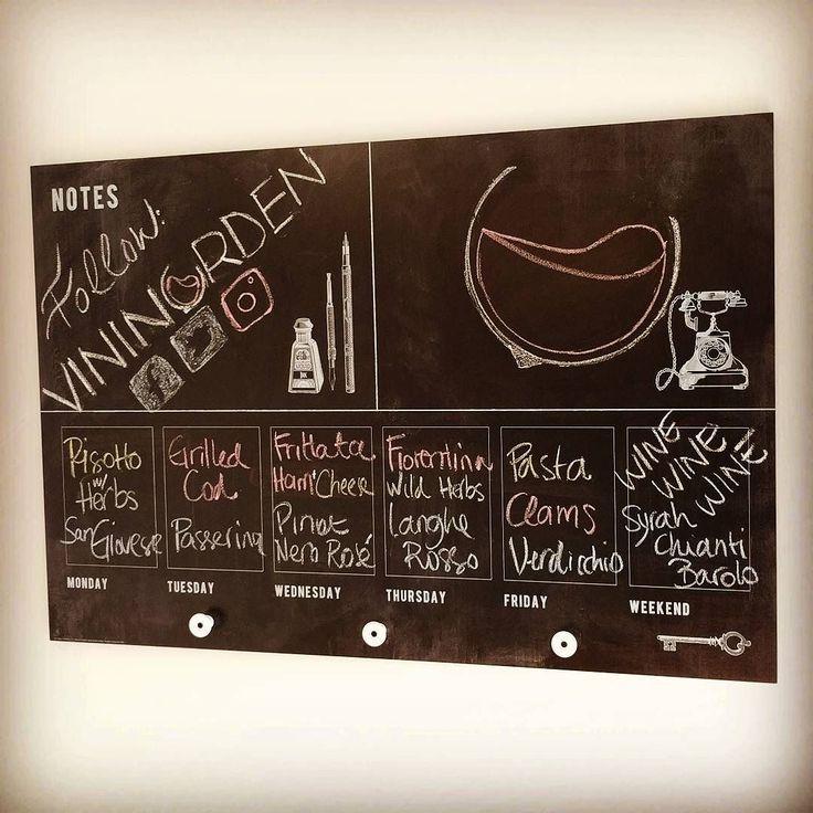 It's important to plan the week properly! #wineweek #planning #pairing #foodandwine #vinogmad #rødvin #hvidvin #hygge #blackboard #godvin #vindruer #winelovers #winestyle #vinelskere #verdicchio #pinotnoir #rosé #sangiovese #passerina #langhe #chianti #italy #denmark #vininorden #fb #tw #pin