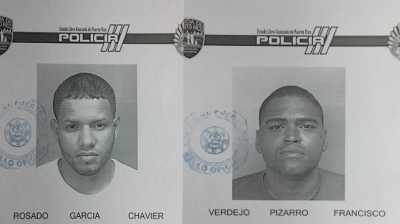 En horas de la noche de ayer le fueron radicados cargos por robo y por amenaza de muerte, a dos individuos que fueron sorprendidos por un guardia de seguridad, luego de apropiarse de mercancía de la tienda Marshalls que ubica en el centro comercial de Plaza Río Hondo en Bayamón.  Según la información preliminar, a las 2:00 de la tarde de ayer, Francisco Verdejo Pizarro de 32 años y Chavier Rosado García de 26, se apropiaron de ropa de hombre, valorada en $160.38.  Se indicó, ...