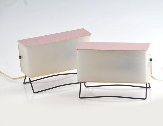 Pair modernist of Mid century desk lamps