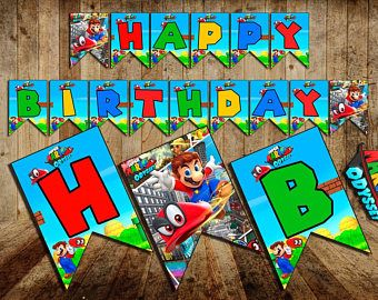 Image result for mario birthday banner