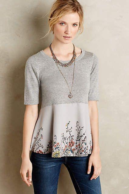 Gardenia Pullover - bonita idea para remodelar un jersey aburrido