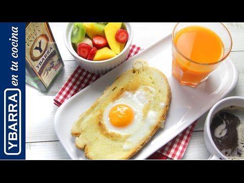 Desayuno fácil y saludable: tostada con huevo y aceite virgen extra Ybarra - YouTube