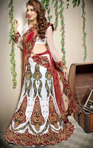 Picture of Alluring White Color Designer Lehenga Choli