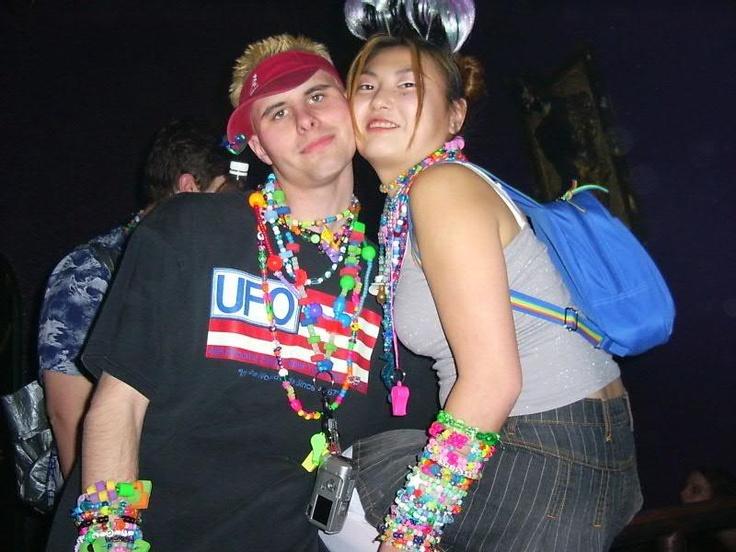 old skool rave couple