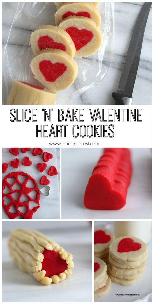 Not as impressive as the rainbow ones...but still damn cute. Slice 'n' Bake Valentine Heart Cookies
