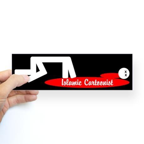 Mohammed cartoon bumper bumper sticker new orleans