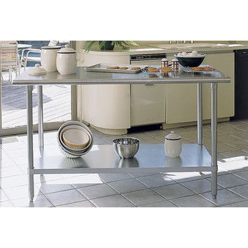 A Line By Advance Tabco Chefu0027s Prep Table With Stainless Steel Top