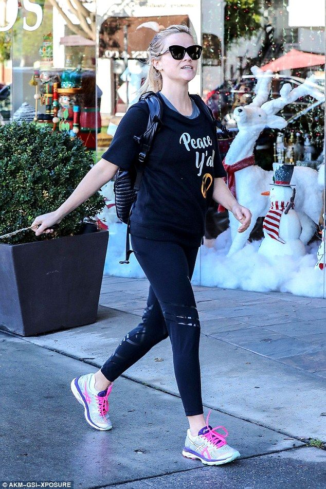 Show your sporty side in Asics sneakers like Reese. Click 'Visit' to buy now. #DailyMail
