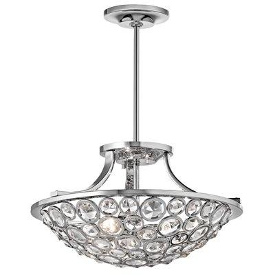Kichler Lighting 42669CH 3 Light Liscomb Convertible SemiFlush Semi Flush Ceiling Light, Chrome