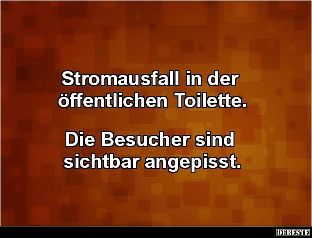 Stromausfall in der öffentlichen Toilette.. | Lustige Bilder, Sprüche, Witze, echt lustig