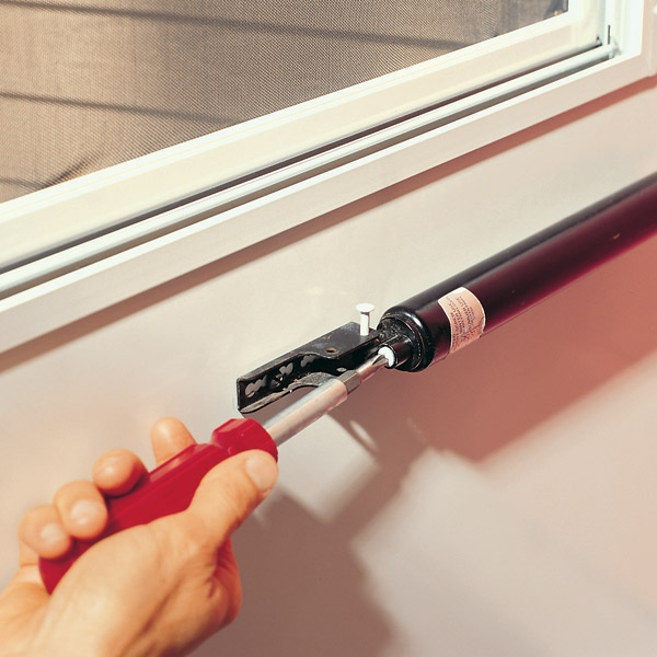 Make a simple closer adjustment to keep your storm door from banging shut, or remaining open when you lower or raise the glass panel for winter or summer.