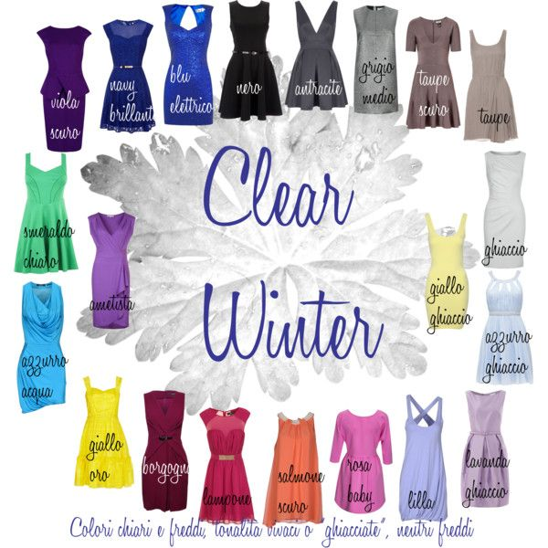 Clear Winter colors- I am a clear winter- green-blue eyes, brown hair, light ivory skin