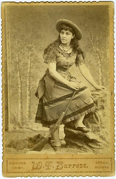 """Belle Starr, outlaw. """"Belle always harbored a strong sense of style, which would feed into her later legend. A crack shot, she used to ride sidesaddle while dressed in a black velvet riding habit and a plumed hat, carrying two pistols, with cartridge belts across her hips"""" - Wikipedia"""