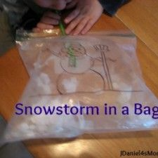 Snowstorm in a Bag Preschool Activity