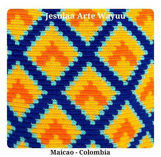 """50 Likes, 1 Comments - Jesulaa Arte Wayuu (@jesulaa_artewayuu) on Instagram: """"Color y composicion geometrica, reflejado en un trabajo hecho a mano por artesanos Wayuu del norte…"""""""