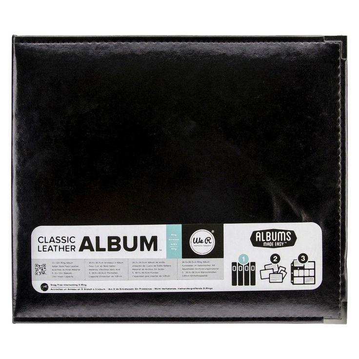 We R Faux Leather 3 Ring Binder - Platinum, Black