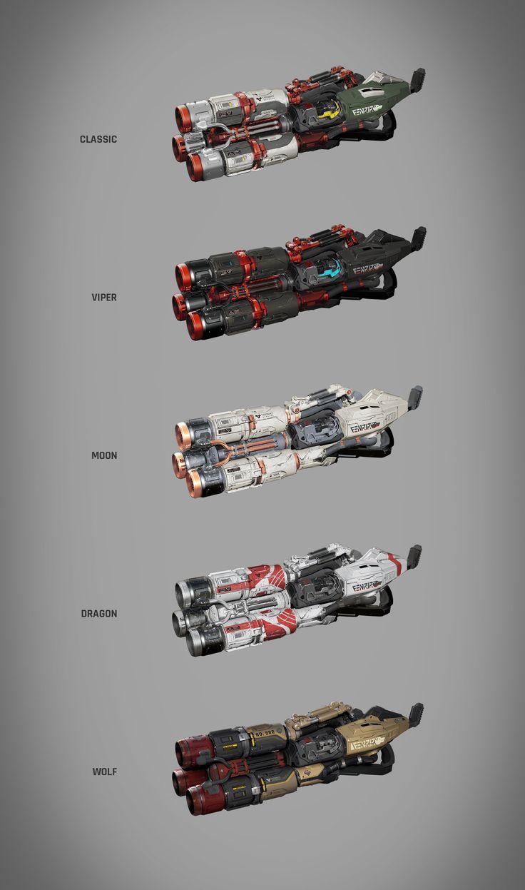 ArtStation - Unreal Tournament Rocket Launcher Concept, Adam Wood
