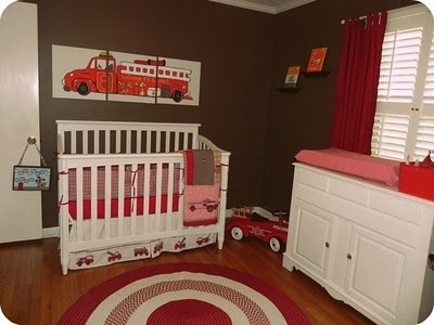 THIS IS IT!!!!  Maybe a little lighter on the walls (well ALOT lighter) but this is what I want if we have a baby firefighter!