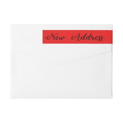 New Address Snowflake wraparound label - holiday card diy personalize design template cyo cards idea
