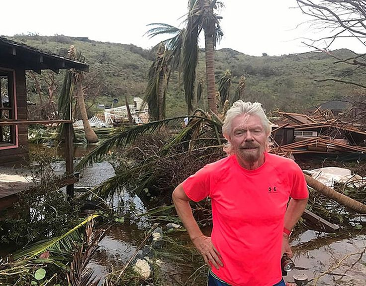 Billionaire Sir Richard Branson has released pictures showing the devastation left behind by Hurricane Irma on his private island, Necker Island