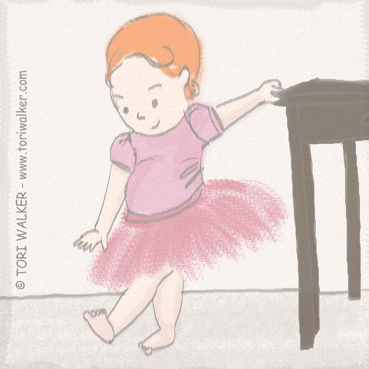 Baby girl ballerina sketch