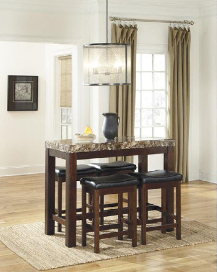 Kraleene Rectangular Counter Table W 4 Stools