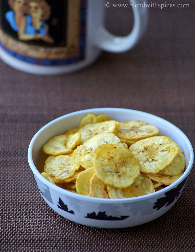 Raw Banana Chips - Homemade Plantain Chips with stepwise pictures - A traditional South Indian snack | Kerala