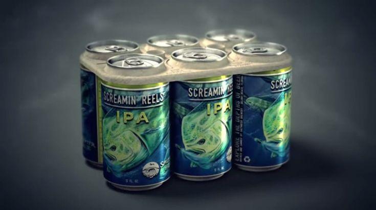 Una pequeña cervecería artesanal de Florida, en EE.UU., llamada Saltwater Brewery, creó un empaque 100 por ciento biodegradable y comestible