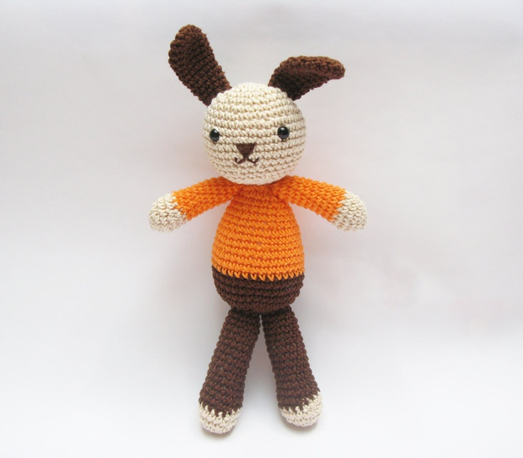Amigurumi Easter Bunny Jacques Crochet Toy Made to Order Easter Gift for Kids. $42.00, via Etsy; great inspiration
