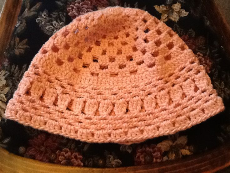 Crocheted Hat.