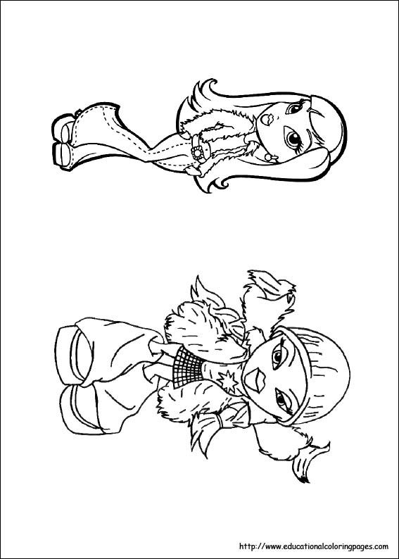 monster high bratz coloring pages - photo#15