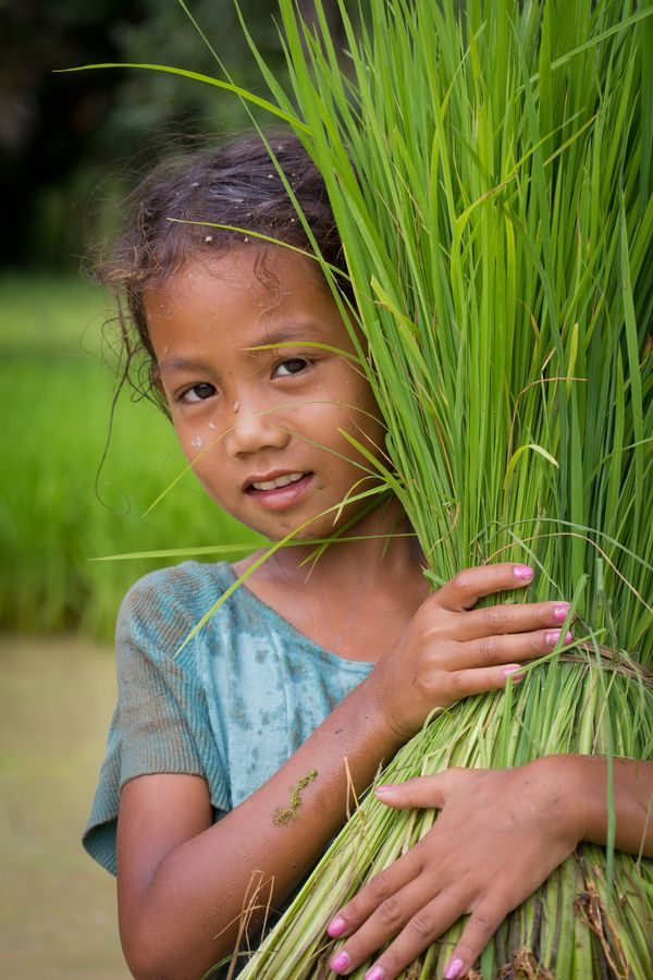 Children of the world ~photo taken in the rice fields of Cambodia.