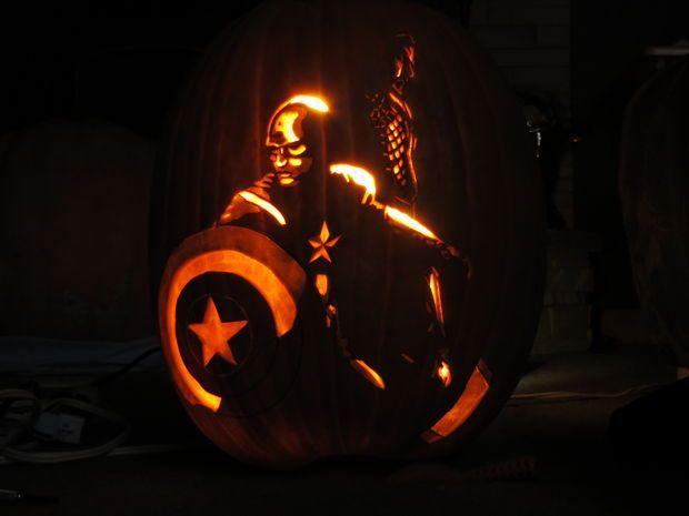 Avengers assemble my pumpkin carving pumpkins