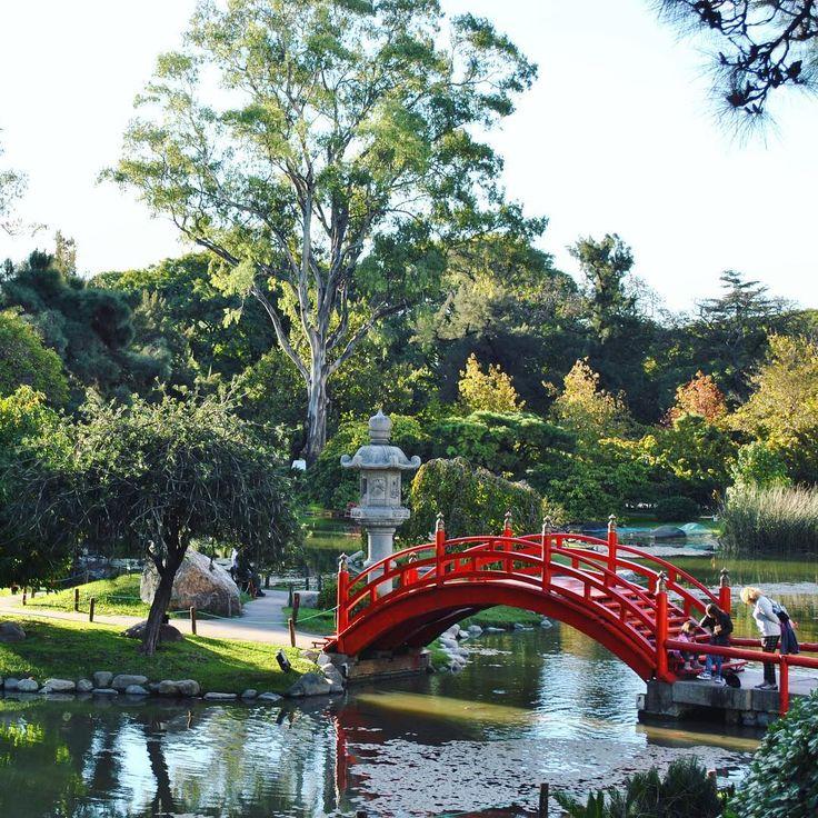 Una tarde soleada en el Jardín Japonés  #jardin #palermo #buenosaires #sabado #verde #puente #rojo #estanque #japones #paseo #peces #soleado #mirandabosch