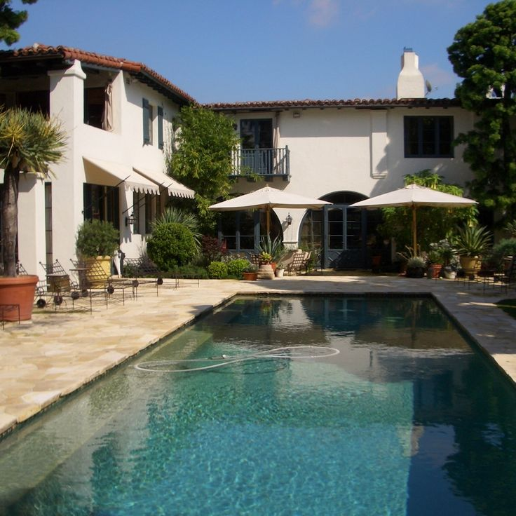 Beautiful Houses With Pools: 50 Best Images About Spanish Colonial Houses On Pinterest