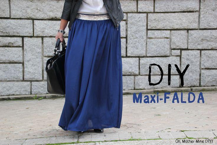 DIY Cómo hacer una falda larga, estilo maxi-falda. Despliega la descripción para obtener toda la información!!! Post completo y más fotos del resultado: http...