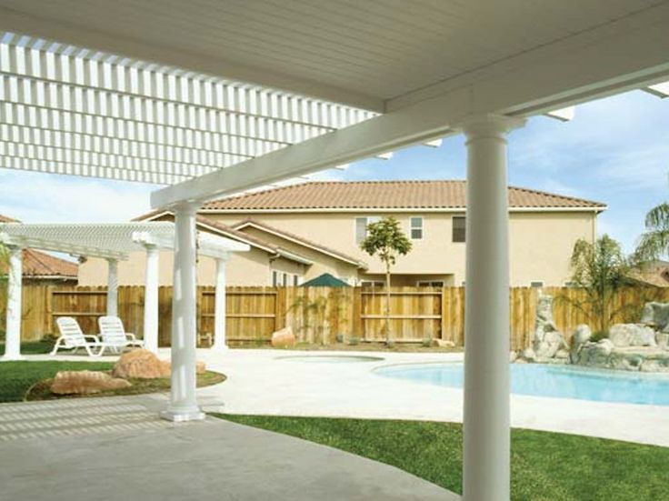 Alumawood Laguna Lattice U0026 Newport Solid Patio Covers