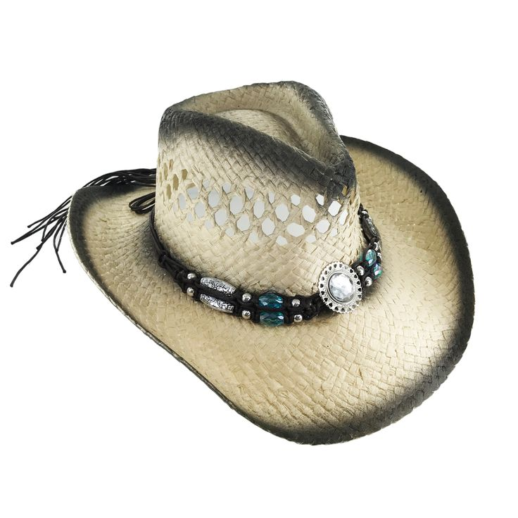 Faddism Rodeo C189 Women Urban Fashion Cow Girl Hat Adult M 7 - 7 1/8