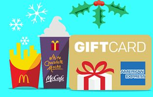 Share Tweet + 1 Mail Share 120002014 McDonald's Win a Gift Card Sweepstakes Giveaway (21) twenty thousand dollar ($20,000) prizes (each consisting of twenty ...