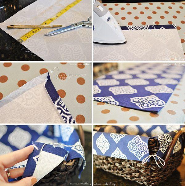 no sew basket liner steps