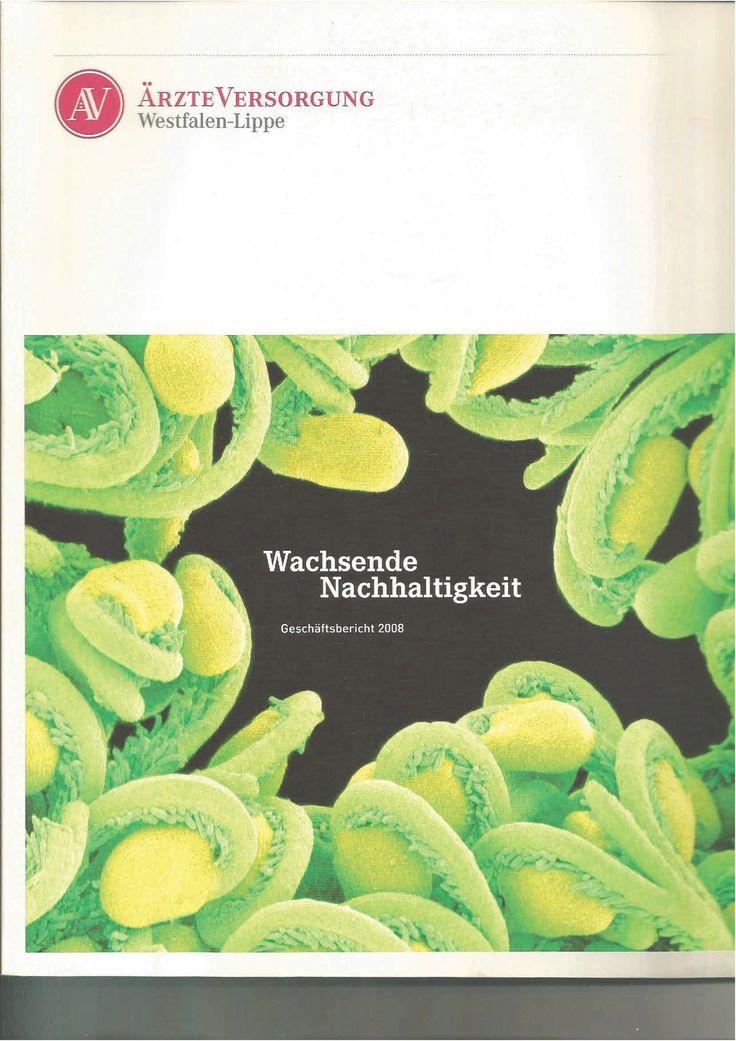 Lektorat, Gestaltung und Umsetzung des Geschäftsberichts 2008 der ÄrzteVersorgung Westfalen-Lippe