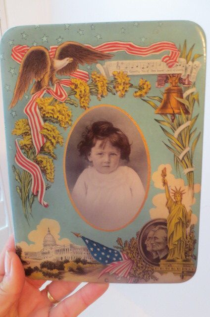 Victorian AMERICAN Antique Celluloid Photo Button Picture Little Girl FLAG Eagle PATRIOTIC c.1900s by AntiqueARTGarden on Etsy https://www.etsy.com/listing/175501732/victorian-american-antique-celluloid
