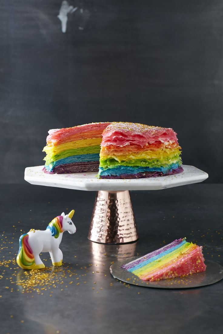 Rainbow Crepe Cake Photo: Danielle Wood Mima Sinclair