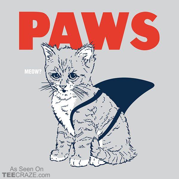 Paws T-Shirt - https://teecraze.com/design/paws-t-shirt/ - Designed by Snorg  #TCRZ #funny #cat