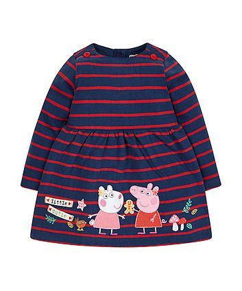 Peppa Pig striped jersey dress