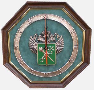 """Часы """"Эмблема Таможни"""" - Часы <- Картины, плакетки, рельефы - Каталог   Универсальный интернет-магазин подарков и сувениров"""