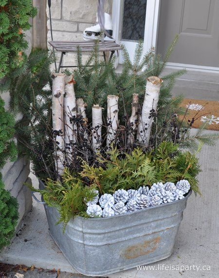 Fox Hollow Cottage: Decorating With Urns {Christmas Edition}