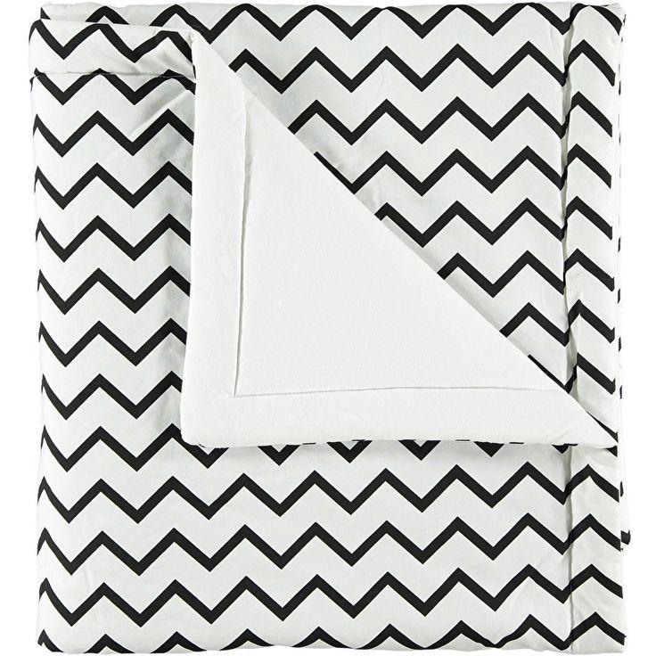 Deken/plaid Nobodinoz small - zigzag zwart/wit 100x145cm