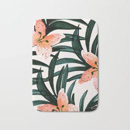 Tiger Lily Tropical Bath Mat